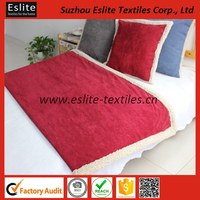 High Quality Sherpa Cordury Blanket And Pillow Set