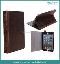 Vintage Style Book Leather Case for iPad Mini
