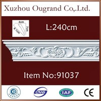 lightweight pu cover wood skirting board for home decor