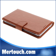 flip leather case for samsung galaxy note edge N9150 with classic brown black original leather color wallet card holder case