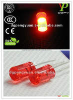 5mm flat top 630nm red led ultra bright top quality