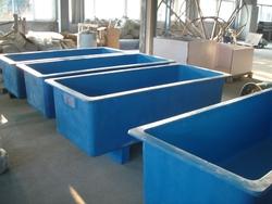 Aquaponics rectangular fish tanks / ponds