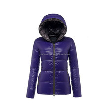 Customize high quality women winter jacket purple short coat