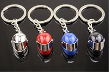 fashion Multicolor cool Motorcycle safety Metal keychain helmet for gift