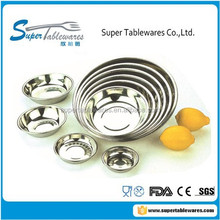 Stainless Steel Round Dinner Plate/Tray for the Hotel or the Family