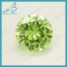 57 Facets Fresh Color Round Apple Green CZ Diamond Gemstone