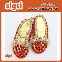 """ Rhinestone Shoes Pendant, Red Shoe Pendant Ruby Slipper Charm for Chunky Necklace DIY ZTQ24"
