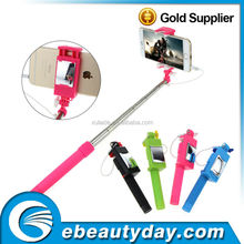Selfie wired monopod with mirror stainless steel monopod sefie stick WE-008