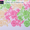New arrival cord lace materials pink lemon and cream nigerian cord lace fabric/ pakistani fabric/ dubai lace fabric for dresses
