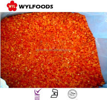 Frozen IQF red chilies dices/crushed best price