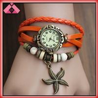 Ladies Seastar Bracelets, Leather Bracelets, Decoration Watch Bracelets-BR15216