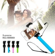 Supreme mini1 Cable Take Pole Selfie Stick Phone Extendable Wired Selfie Stick Handheld Monopod For Android iphone 6 Plus 5S