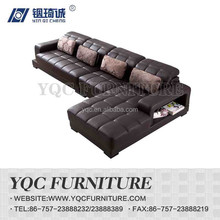6122# hot sale eruo style fashion big size leather corner sofa
