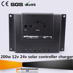 200w 12v 24v solar controller charger