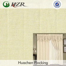 Purple linen PE coated energy saving home shade fabric Chinese manufacture 3 passes PE flocking blackout fire retardant