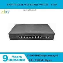 8 port gigabit Ethernet/network switches for IP camera, IP phone, for network