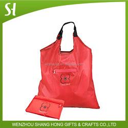 wholesale grocery bag/folding nylon tote bag