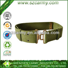 100% Canvas Military Green Belt with Metal Buckle