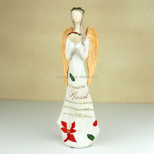 Polyresin arts and craft angel wing with flower surround statues home decor