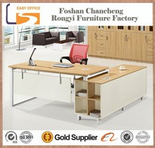 Low price MDF panel modern type steel office desk