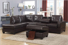 American style Comfortable leather corner /sectional sofa set,Cheaper leather living room sectional sofa set(MK6006)