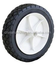 7 inch wheel barrow solid rubber wheel