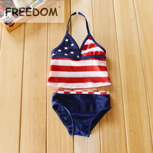 Little Girls Sexy Flag Children Bikini