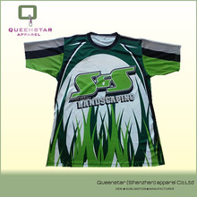 OEM sublimated t shirt,landscaping printed