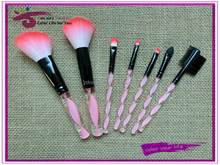 best selling products 7pcs nylon hair duotone acrylic handle makeup brushes
