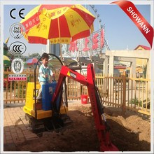 CE,ISO approved superior quality children toy excavator/Best selling for children attraction kids mini excavator