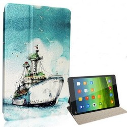 Flip leather shockproof print cover case for xiaomi mipad