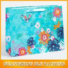 (BLF-PB862)ribbon handle full color printing Luxury shopping bags