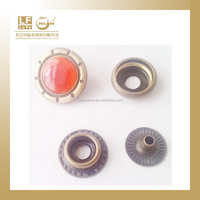 custom design rhinestone brass snap fastener