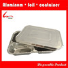 Rectangular Health Food Divided Aluminum Foil Tray 4Compartments With Foil Lid