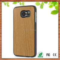 cherry wood snap on case cover for Samsung Galaxy S6 Edge