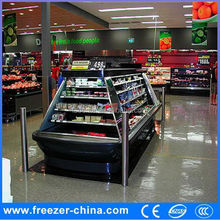 supermarket multideck vertical chiller open front display refrigerator freezer etl