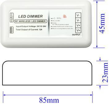 Plastic shell RF Touch 5 keys Led dimmer