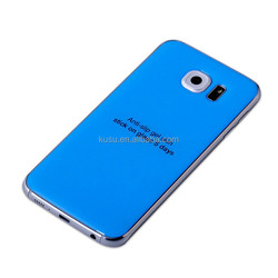 Fashionable design mobile phone decoration gel skin for Samsung and Samsung S6