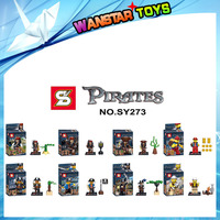 2015 New Pirates Of the Caribbean Captain Jack SY273 Building Bricks Blocks Education Toys Compatible with minifigures