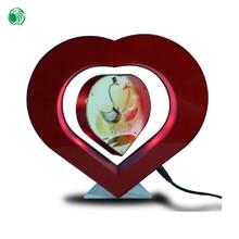 Dos lados en forma de corazón de la levitación magnética populares marco 70.o regalos