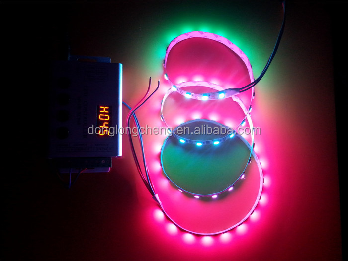 Individually addressable digital ws2812b ws2811 led flexible pixel strip 60Pixels/M 5050 full color LED Strip 5V