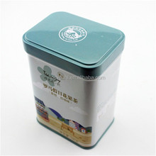 China Tin Boxes Manufacturer Customize 3 Piece Coffee Tea Tin Boxes With Hinge Lid Wholesale