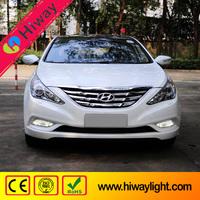 100% waterproof car spare parts for hyundai sonata 8 auto led drl fog light