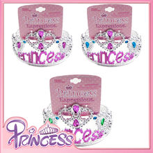 FC-801 2015 3 pcs green & purple & blue princess tiara headband girls hair accessory carnival hair band