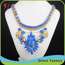 Pink Summer Euro-Pop Blooming Flower Necklace Collare Wholesale