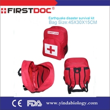 2015 free sample Red cross earthquake emergency kit, emergency bug out bag, disaster survival kit for 2