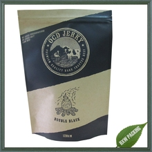 metalized foil reusable paper stand up sachet for food packaging