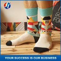 2015 cheapest comfortable Breathable Carton Socks for men