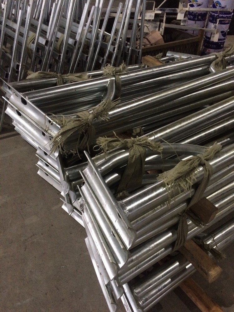 2015 New costomer double and single arm steel street light pole