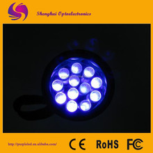 High power hunting lights with multi beam color led flashlight torch
